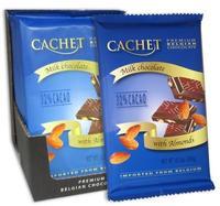 Премиум шоколад Cachet 32% Milk Chocolate with Almonds с миндалём, 300гр. Бельгия