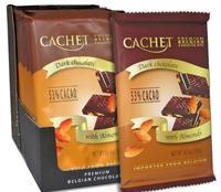 Премиум шоколад Cachet 53% Milk Chocolate with Almonds - темный с миндалем, 300гр. Бельгия