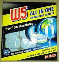 W5 All-in-1 Geschirr-Reiniger-Tabs БЕСФОСФАТНЫЕ!!! таблетки для посудомоечных машин (Германия) 30 таб.