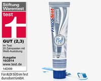Зубная паста FRISCODENT Zahnweis - Отбеливающая зубная паста. (Германия)