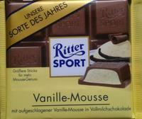 RITTER SPORT Vanille Mousse - ванильный мусс, 100гр. Германия