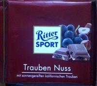 RITTER SPORT Trauben Nuss - шоколад орех+изюм, 100гр. Германия
