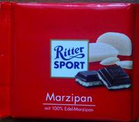 Шоколад Ritter Sport Marzipan марципан, 100гр. Германия
