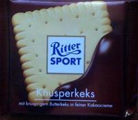 Ritter Sport Knusperkeks - Хрустящее печенье, 100гр. Германия