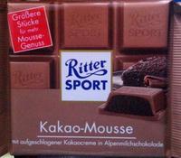 RITTER SPORT Kakao Mousse - какао мусс, 100гр. Германия