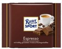 Ritter Sport Молочный с ароматным Espresso из обжаренных зерен арабики 100гр., Германия