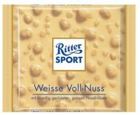 Ritter sport Weisse Voll-Nuss - Белый шоколад с лесным орехом. 100гр. Германия