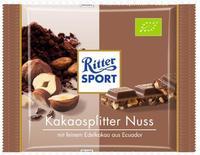 Ritter sport Bio Kakaosplitter Nuss - какао с орехами БИО!!!, 100гр. Германия