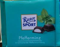 RITTER SPORT Pfefferminz - Мятный ликёр 100гр., Германия