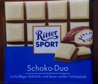 Шоколад Ritter Sport Schoko-Duo Шоко-Дуо Комбинация молочного и изысканного белого шоколада. 100гр. Германия