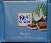 RITTER SPORT Kokos - кокос, 100гр. Германия