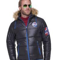 Куртка зимняя мужская Nebulus Atlantic, черная, с капюшоном, Оригинал, Германия