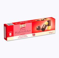 Трубочки с шоколадом BISCOTTO Schoko Waffelrollchen – в тёмном шоколаде., 125 гр. Германия