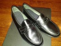 чёрные кожан туфли 33 размер