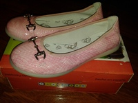Pablosky Ballerinas - балетки розовые, кожа, размер 32.