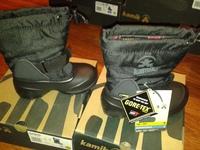 зимние  Kamik Shadow 4G Kids black Gore-Tex, водоотталкивающие, -50град. мороза защита, размер 21/25