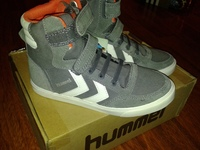 Hummel Slim stadil JR Canvas High Castle Rock  31 размер, замш + текстиль
