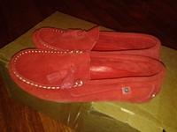 макасины Испания, 33 размер, красного цвета, замш