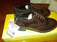туфли кожаные ZARA MIT HOCHMODERN LOCHMUSTER, размер 28