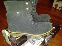 ботинки замш ZARA 36 размер
