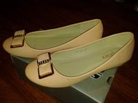 балетки для девочек, 35/36 размер, персикового цвета, кожзам