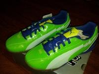 спортивные кроссовки Puma , размер 35.5, зеленые