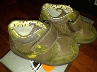 ботинки Clarks Echtleder Schuhe размер 21 Jungs braun Dinosaurier , кожа