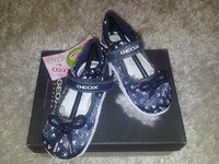 туфли-балетки Geox 20 размер, кожа +текстиль